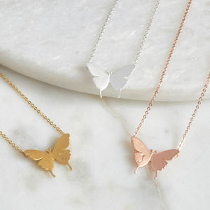 Delicate Butterfly Necklace - winter sale