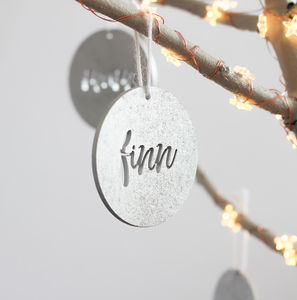 Personalised Christmas Tree Ornaments Pack Of Four