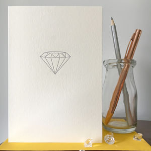 'Diamond' Letterpress Card - engagement cards