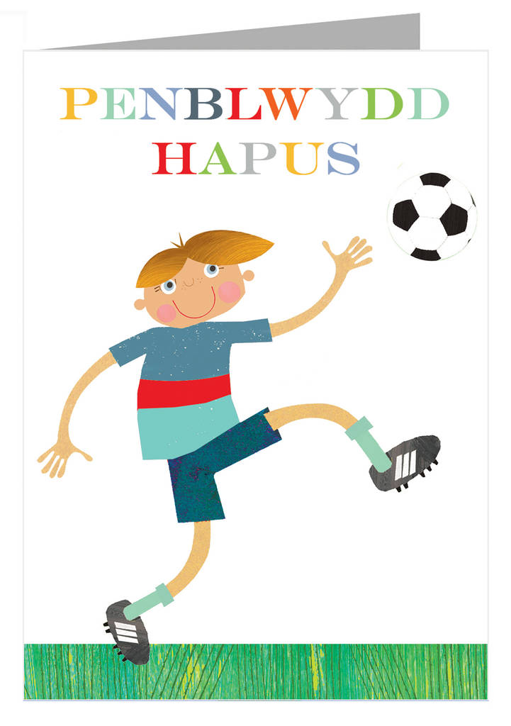 Welsh football penblwydd hapus greetings card by kali stileman welsh football penblwydd hapus greetings card m4hsunfo Images