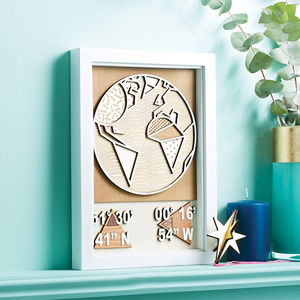 Personalised 3D Coordinates Wall Art - shop by subject