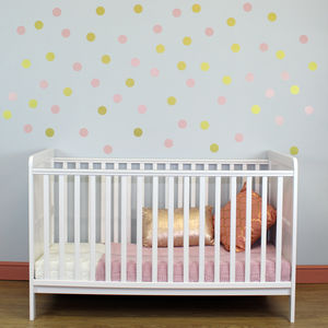 Blush And Gold Confetti Spots - wall stickers