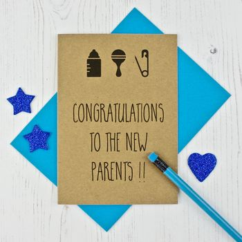 New Parents Silhouettes Card