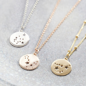 Constellation Star Sign Necklace Silver, Gold Or Rose