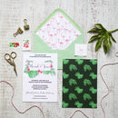 Flamingo Wedding Invitation