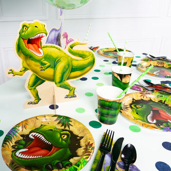 Pack Of Four Dino Blast Centre Pieces