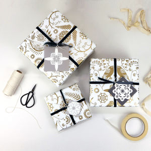 Wrapping Paper Eudaimonia Birds - wrapping paper