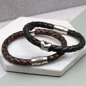 Men's Personalised Clasp Infinity Bead Bracelet