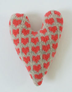 Knitted Lavender Heart