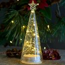 Clear Glass Christmas Tree With LED Lights