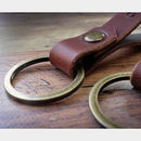 Set Of Two Personalised Italian Leather Keyrings