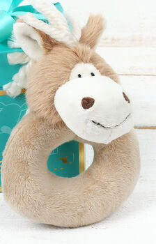 Personalised Haffi Pony Baby Rattle