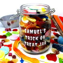 Trick Or Treat Personalised Retro Sweet Jar