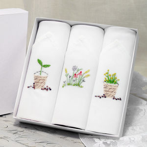 Ladies Hankies Garden Set - handkerchiefs