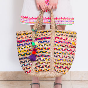 Stripey Bucket Bag - the mexicana collection