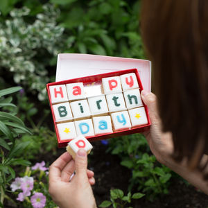 Happy Birthday Letterbox Cake - personalised gifts for foodies