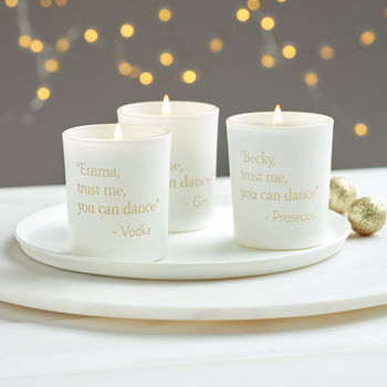 Personalised You Can Dance Votive