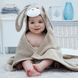 Personalised Hazel Bunny Baby Towel - bathroom