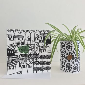 Set Of Four Decorative Greetings Cards