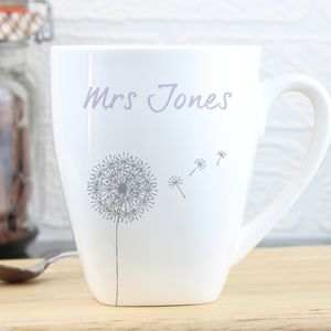 Personalised Dandelion Latte Mug - tableware