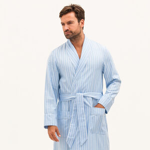 Mens Brushed Cotton Dressing Gown