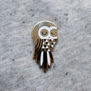 Twit Owl Enamel Pin Badge