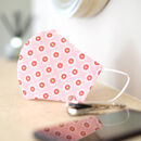Pink Love Heart Fabric Face Mask