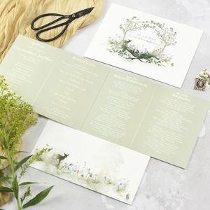 'Wildflower' Order Of Service Printed Booklet - order of service & programs