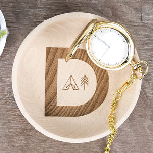 Adventure Alphabet Personalised Wooden Trinket Dish - cufflink boxes & coin trays