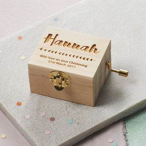 Personalised Christening Music Box - wooden toys