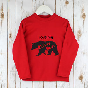 Children's Fathers Day Bear T Shirt