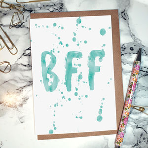 'BFF' Greeting Card - blank cards