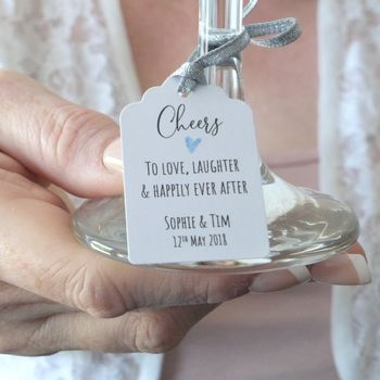 Happily Ever After Personalised Wedding Favour Tags