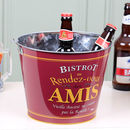 Personalised Gents Parisian Beer Bucket