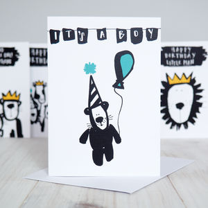 'It's A Boy' New Baby Card - new baby cards