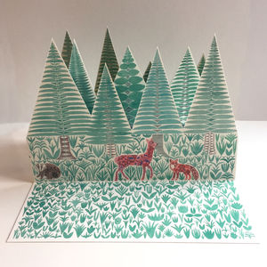 Illustrated Pop Up Paper Forest