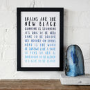 Ombre Nerds And Geeks Typography Print