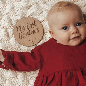 'My First Christmas' Milestone Card