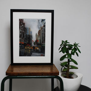 Nyc Eight Original Oil Painting - architecture & buildings