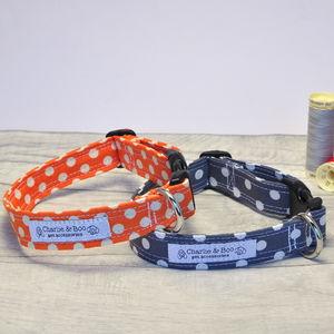 Orange Or Grey Dog Collar For Boy Or Girl Dogs - dog collars