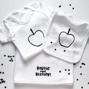 Apple Deluxe Monochrome Baby Gift Set - new baby gifts