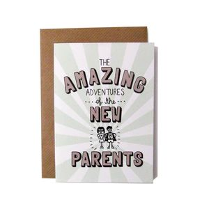 'Amazing Adventures Of The New Parents' Card