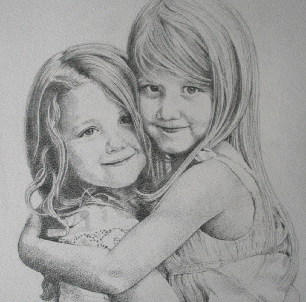 personalised family child portrait drawing by ros (jelbert ...