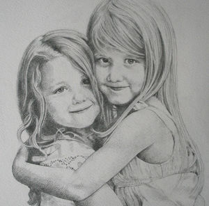 Personalised Family Child Portrait Drawing - pictures & prints for children