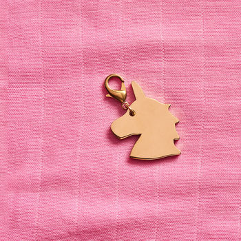 Brass Unicorn Charm