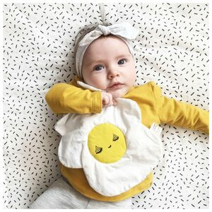 Sunny Side Up Crinkle Toy Organic Cotton