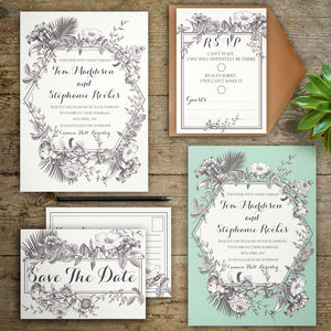 Botanical Wedding Invitations - save the date cards