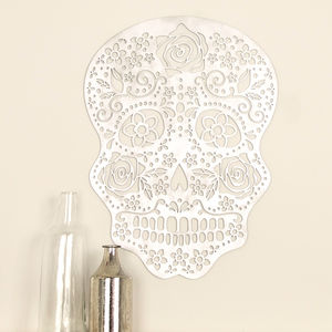 Sugar Skull Laser Cut Wooden Wall Art - decorative accessories
