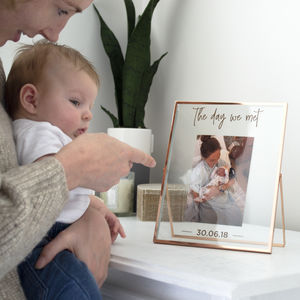 Personalised Copper Baby Photo Frame - new in prints & art