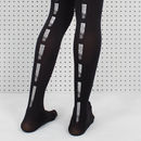 Black Paint Dash Printed Tights